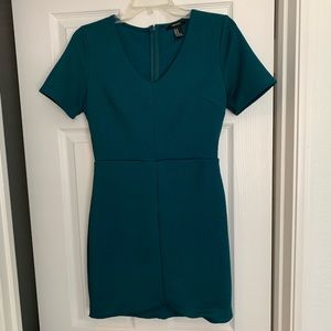 Dark teal fitted dress